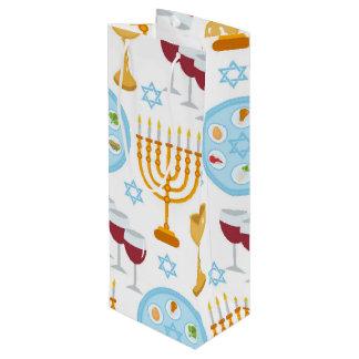 Teste padrão judaico do fundo do Passover do Sacola Para Vinho