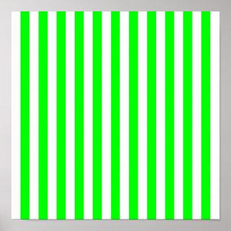 Teste padrão listrado do verde limão poster
