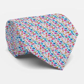 Teste padrão marinho dos desenhos animados para o gravata