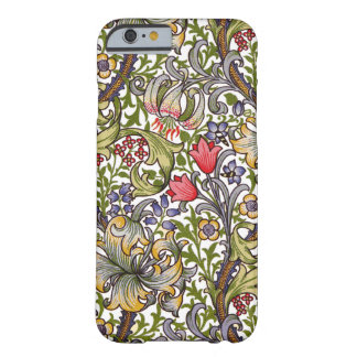 Teste padrão menor William Morris do lírio dourado Capa Barely There Para iPhone 6
