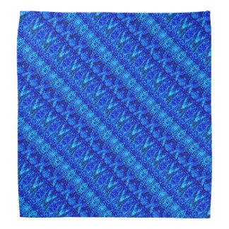 Teste padrão mergulhado azul pano para cabeça