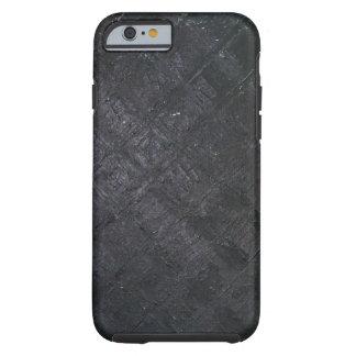 Teste padrão molhado preto puro do diamante capa tough para iPhone 6