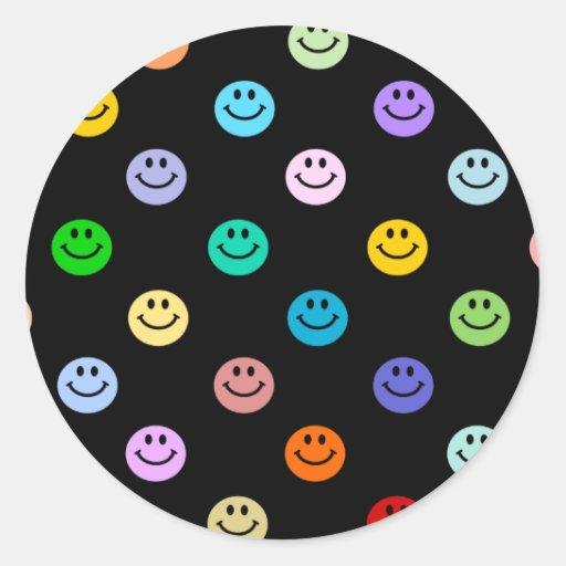 Teste padrão multicolorido do smiley face do arco- adesivos ...