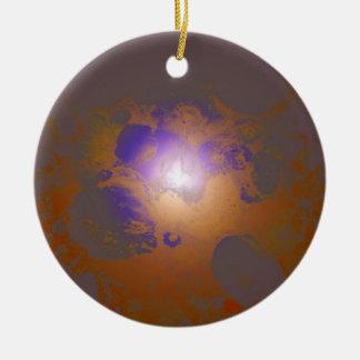 Teste padrão original bonito roxo de cobre ornamento de cerâmica