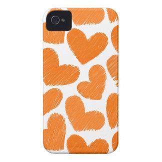 Teste padrão pastel alaranjado feminino dos capas para iPhone 4 Case-Mate