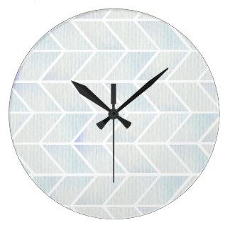 Teste padrão pastel da viga da hortelã da aguarela relógios de paredes