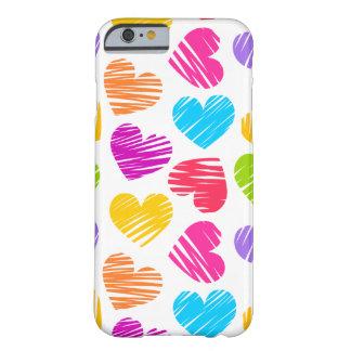 Teste padrão pastel feminino dos corações do amor capa barely there para iPhone 6