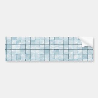 Teste padrão Pastel Variegated do azulejo do Aqua Adesivo Para Carro