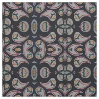 Teste padrão popular simples floral & de Paisley Tecido