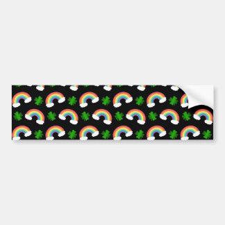Teste padrão preto bonito dos trevos dos arcos-íri adesivo para carro
