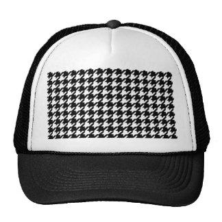 Teste padrão preto e branco clássico de boné