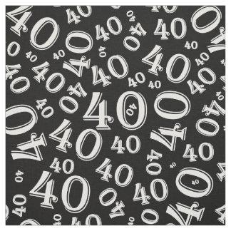 Teste padrão preto e branco da tipografia do tecido
