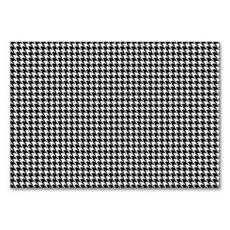 Teste padrão preto e branco de Houndstooth