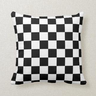 Teste padrão preto e branco do verificador travesseiros
