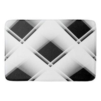 Teste padrão preto e branco tapete de banheiro