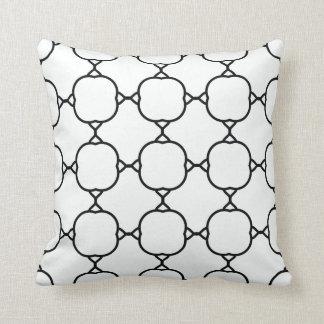 teste padrão preto no branco travesseiros de decoração
