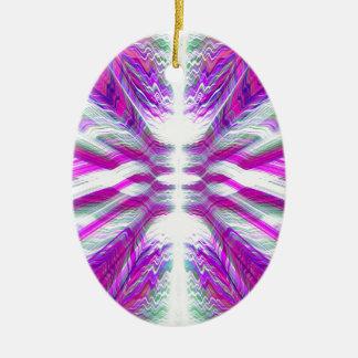 Teste padrão psicadélico roxo ornamento de cerâmica