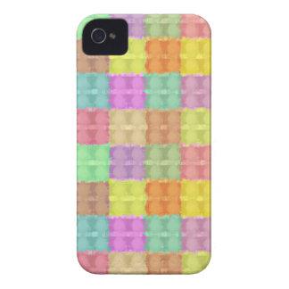 Teste padrão quadrado colorido retro capas iPhone 4