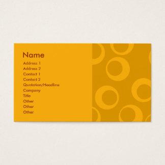 Teste padrão retro alaranjado cartão de visitas