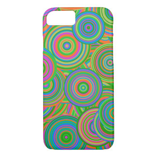 Teste padrão retro colorido engraçado capa iPhone 7