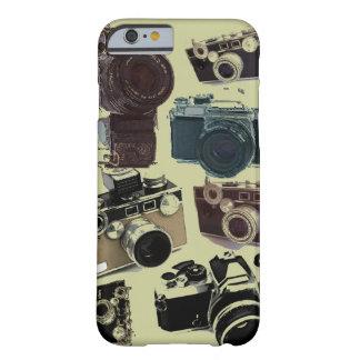 Teste padrão retro das câmeras do Grunge do Capa Barely There Para iPhone 6