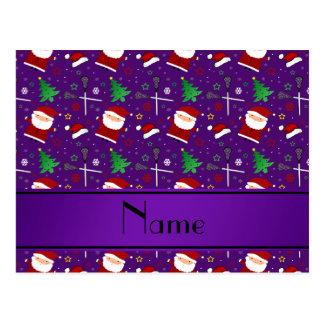 Teste padrão roxo conhecido feito sob encomenda do cartao postal