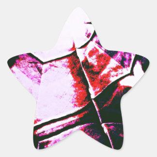 Teste padrão roxo desvanecido adesito estrela