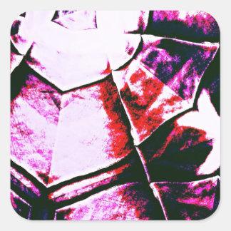 Teste padrão roxo desvanecido adesivo quadrado