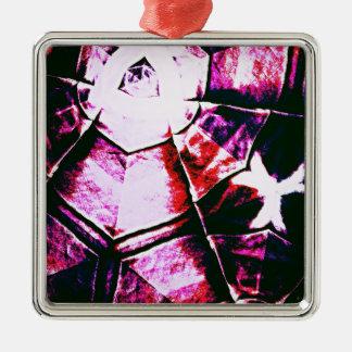 Teste padrão roxo desvanecido ornamento quadrado cor prata