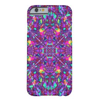 Teste padrão roxo do Hippie da mandala Capa iPhone 6 Barely There