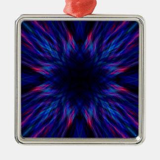 Teste padrão roxo e azul ornamento de metal