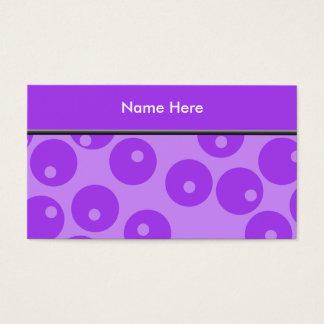 Teste padrão roxo retro dos círculos cartão de visitas