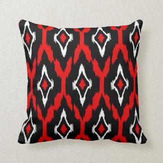 Teste padrão tribal branco vermelho preto moderno travesseiros