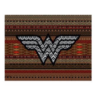Teste padrão tribal da mulher maravilha cartão postal