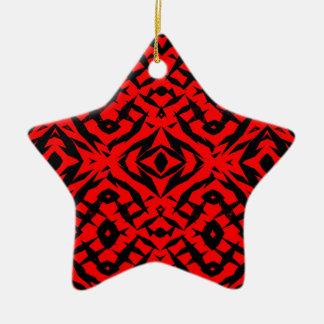 Teste padrão tribal vermelho das formas ornamento de cerâmica