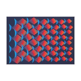 Teste padrão tropical exótico dos peixes impressão em canvas