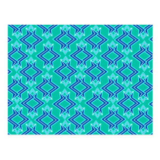 Teste padrão, turquesa e cobalto do papel de cartão postal