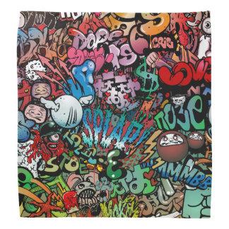 Teste padrão urbano dos caráteres dos grafites da panos para cabeça