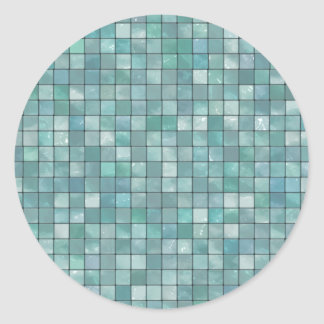 Teste padrão Variegated do azulejo da cerceta Adesivo