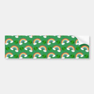 Teste padrão verde bonito dos trevos dos arcos-íri adesivo para carro