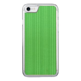 Teste padrão verde-claro das listras verticais capa para iPhone 7 carved