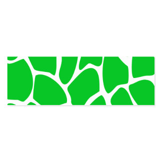 Teste padrão verde-claro do impressão do girafa cartão de visita skinny