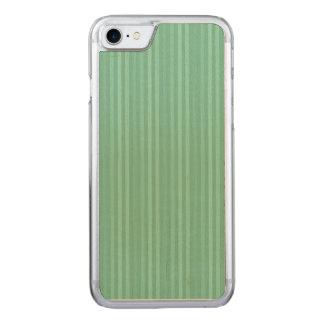 Teste padrão verde das listras verticais da capa para iPhone 7 carved