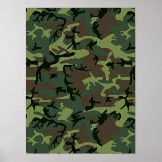 Teste padrão verde de Camo Brown da camuflagem Poster