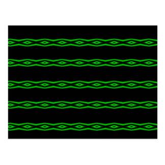 Teste padrão verde de néon do diamante cartão postal