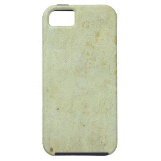 Teste padrão verde retro do Grunge Capas iPhone 5 Case-Mate