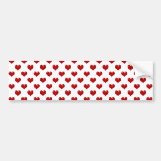 Teste padrão vermelho bonito dos corações do amor  adesivo para carro