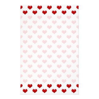 Teste padrão vermelho bonito dos corações do amor  papelaria