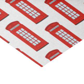 Teste padrão vermelho britânico da caixa de papel de seda