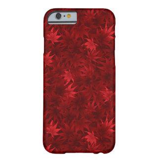 Teste padrão vermelho das folhas de bordo capa barely there para iPhone 6